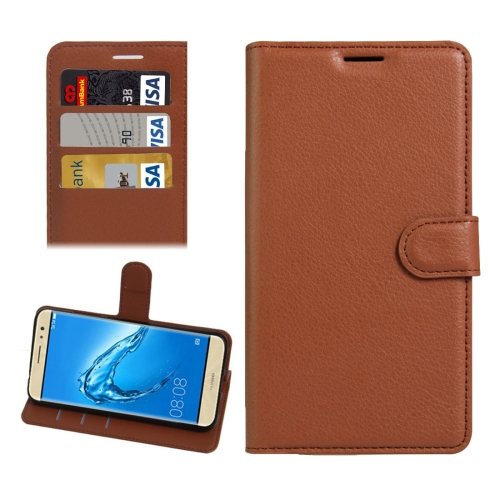 Buy For Huawei nova Plus Litchi Texture Horizontal Flip Leather Case with Holder & Card Slots & Wallet, Brown for $2.30 in SUNSKY store