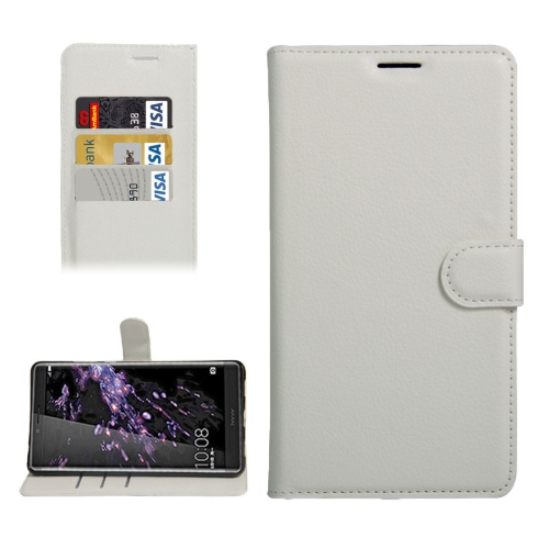 Buy For Huawei Honor NOTE 8 Litchi Texture Horizontal Flip Leather Case with Holder & Card Slots & Wallet, White for $2.30 in SUNSKY store