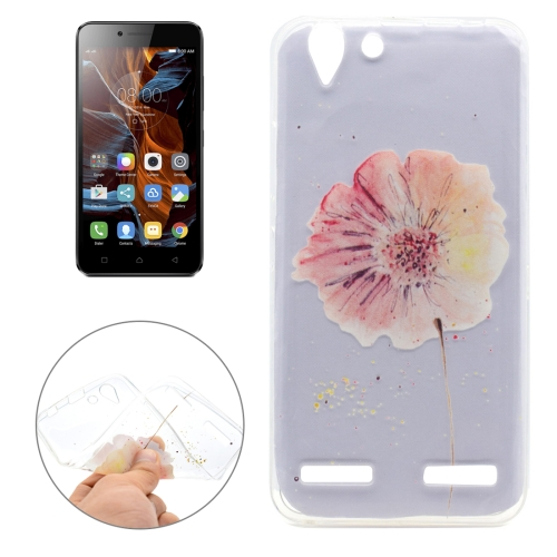 Buy For Lenovo Vibe K5 Flower Pattern Transparent Soft TPU Protective Back Cover Case for $1.16 in SUNSKY store