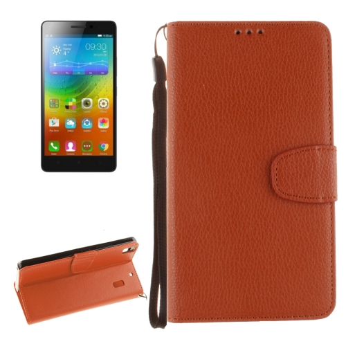 Buy For Lenovo K3 Note Litchi Texture Horizontal Flip PU Leather Case with Holder & Card Slots & Wallet & Photo Frame & Lanyard, Brown for $2.41 in SUNSKY store