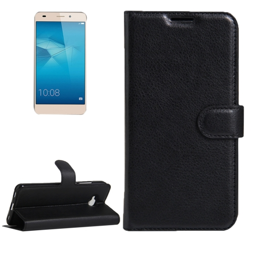 Buy Huawei Honor 5c European Edition Litchi Texture Horizontal Flip Leather Case with Magnetic Buckle & Holder & Card Slots & Wallet, Black for $2.30 in SUNSKY store