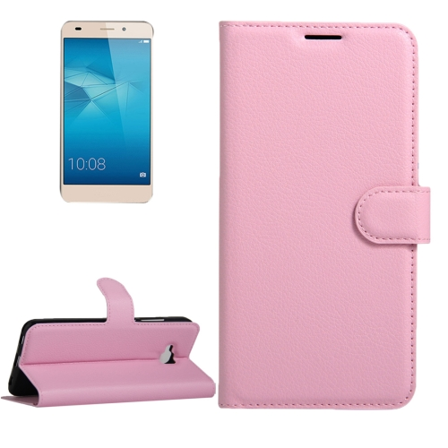 Buy Huawei Honor 5c European Edition Litchi Texture Horizontal Flip Leather Case with Magnetic Buckle & Holder & Card Slots & Wallet, Pink for $2.30 in SUNSKY store