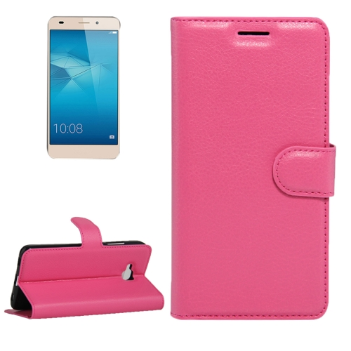 Buy Huawei Honor 5c European Edition Litchi Texture Horizontal Flip Leather Case with Magnetic Buckle & Holder & Card Slots & Wallet, Magenta for $2.19 in SUNSKY store
