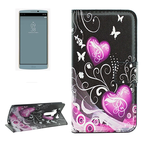 Buy For LG V10 Crystal Butterflies and Hearts Pattern Horizontal Flip Leather Case with Holder & Card Slots & Wallet for $2.18 in SUNSKY store
