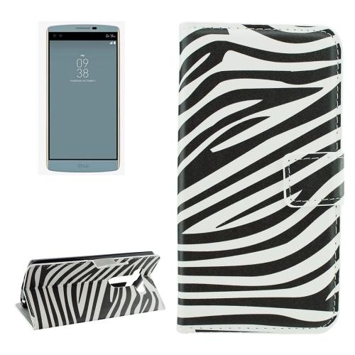 For LG V10 Zebra Stripes Pattern Horizontal Flip Leather Case with Holder & Card Slots & Wallet