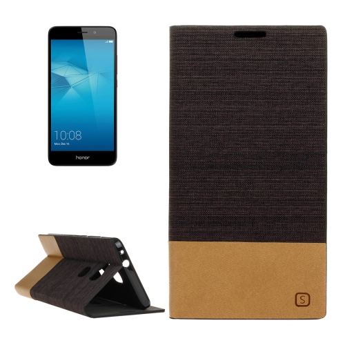 Buy Huawei Honor 5C Canvas Pattern PU + TPU Horizontal Flip Leather Case with Holder & Card Slots, Brown for $2.56 in SUNSKY store