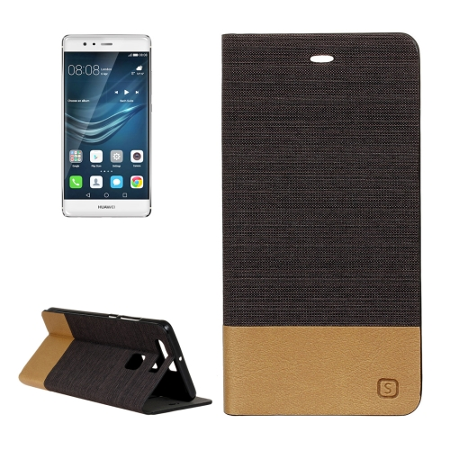 Buy Huawei P9 Canvas Pattern PU + TPU Horizontal Flip Leather Case with Holder & Card Slots, Brown for $2.56 in SUNSKY store