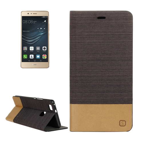 Buy Huawei P9 Lite Canvas Pattern PU + TPU Horizontal Flip Leather Case with Holder & Card Slots, Brown for $2.56 in SUNSKY store