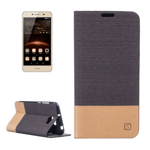 Buy Huawei Y5 II Canvas Pattern PU + TPU Horizontal Flip Leather Case with Holder & Card Slots, Brown for $2.56 in SUNSKY store