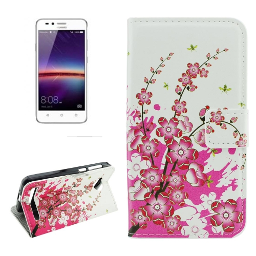 Buy For Huawei Y3 II Plum Blossom Pattern Horizontal Flip Leather Case with Holder & Card Slots & Wallet for $2.18 in SUNSKY store