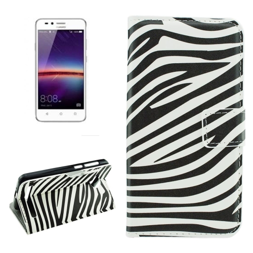 Buy For Huawei Y3 II Zebra Stripes Pattern Horizontal Flip Leather Case with Holder & Card Slots & Wallet for $2.18 in SUNSKY store