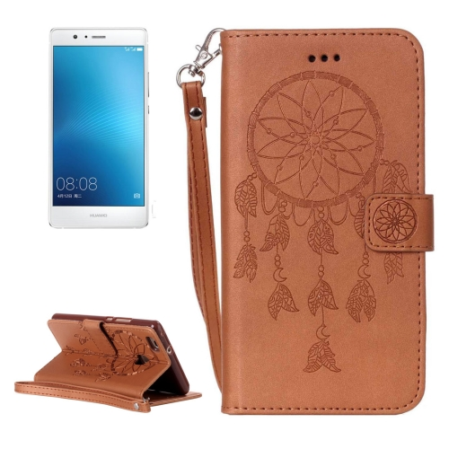 Buy Huawei P9 Lite Crazy Horse Texture Dream Catcher Printing Horizontal Flip Leather Case with Holder & Card Slots & Wallet & Lanyard, Brown for $2.76 in SUNSKY store