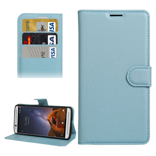 Buy For ZTE AXON 7 Mini Litchi Texture Horizontal Flip PU Leather Case with Holder & Card Slots & Wallet, Blue for $2.31 in SUNSKY store