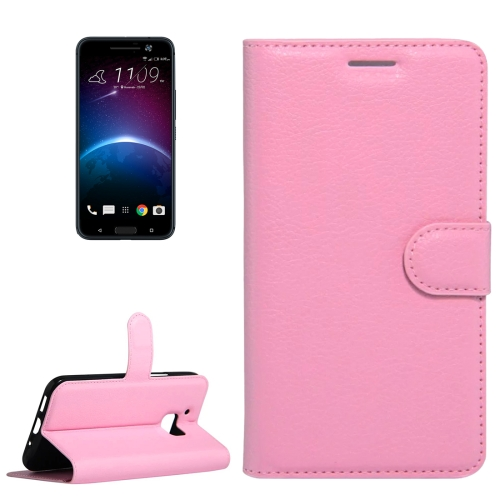 Buy For HTC 10 Litchi Texture Horizontal Flip Leather Case with Holder & Card Slots & Wallet, Pink for $2.55 in SUNSKY store