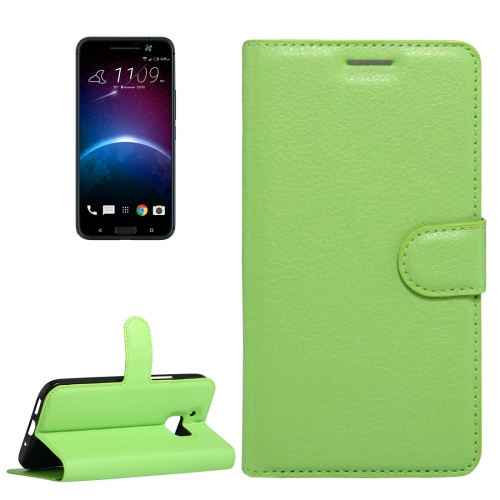 Buy For HTC 10 Litchi Texture Horizontal Flip Leather Case with Holder & Card Slots & Wallet, Green for $2.55 in SUNSKY store