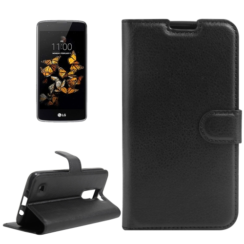 Buy For LG K8 Litchi Texture Horizontal Flip Leather Case with Holder & Card Slots & Wallet, Black for $2.55 in SUNSKY store