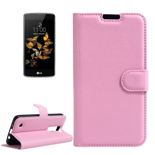 Buy For LG K8 Litchi Texture Horizontal Flip Leather Case with Holder & Card Slots & Wallet, Pink for $2.55 in SUNSKY store