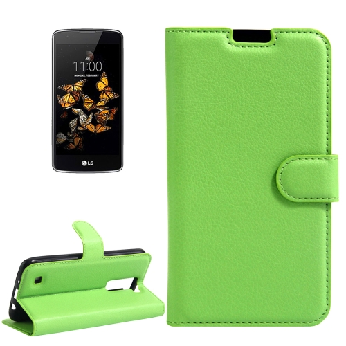 Buy For LG K8 Litchi Texture Horizontal Flip Leather Case with Holder & Card Slots & Wallet, Green for $2.55 in SUNSKY store