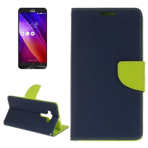 Buy For ASUS ZE552KL Cross Texture Horizontal Flip Leather Case with Holder & Card Slots & Wallet (Dark Blue) for $2.15 in SUNSKY store