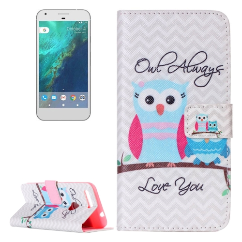 Buy For Google Pixel Owl Pattern Horizontal Flip Leather Case with Card Slots & Wallet & Holder for $2.17 in SUNSKY store