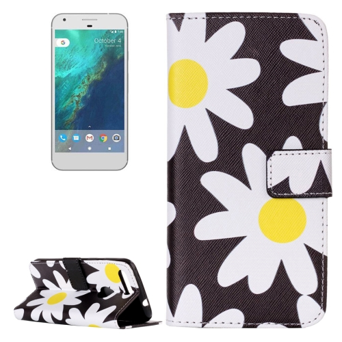 Buy For Google Pixel Daisy Pattern Horizontal Flip Leather Case with Card Slots & Wallet & Holder for $2.17 in SUNSKY store
