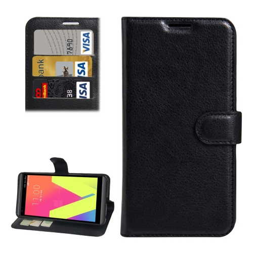 Buy For LG V20 Litchi Texture Horizontal Flip Leather Case with Holder & Card Slots & Wallet, Black for $2.31 in SUNSKY store