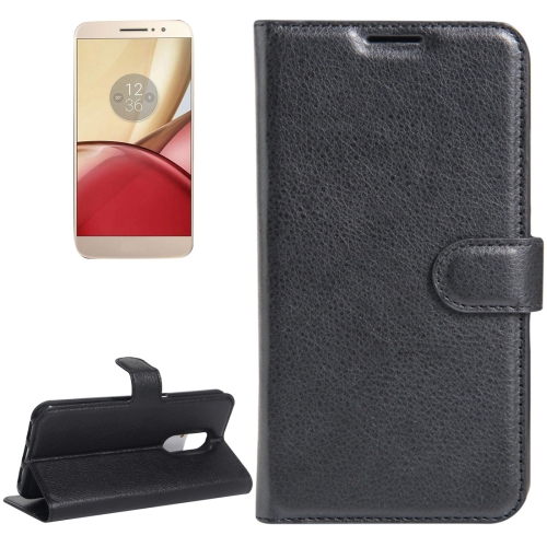 Buy For Motorola Moto M Litchi Texture Horizontal Flip Leather Case with Holder & Card Slots & Wallet, Black for $2.22 in SUNSKY store