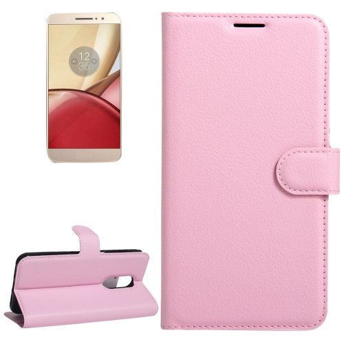 Buy For Motorola Moto M Litchi Texture Horizontal Flip Leather Case with Holder & Card Slots & Wallet, Pink for $2.22 in SUNSKY store