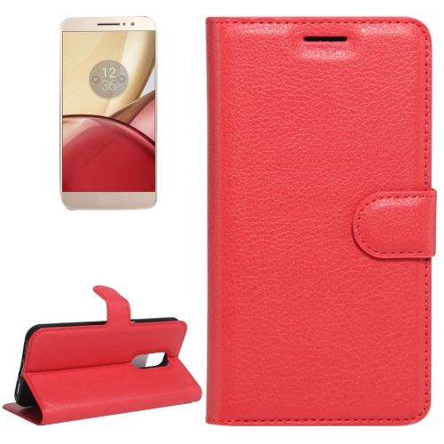 Buy For Motorola Moto M Litchi Texture Horizontal Flip Leather Case with Holder & Card Slots & Wallet, Red for $2.22 in SUNSKY store