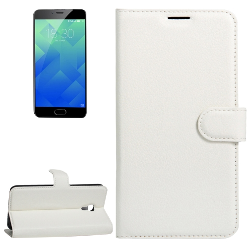 Buy Meizu M5 / Meilan 5 Litchi Texture Horizontal Flip Leather Case with Holder & Card Slots & Wallet, White for $2.33 in SUNSKY store