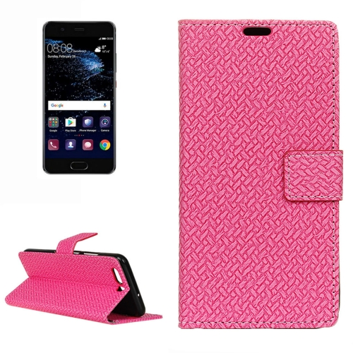 Buy Huawei P10 Knit Texture Horizontal Flip Leather Case with Holder & Card Slots & Wallet, Magenta for $3.19 in SUNSKY store