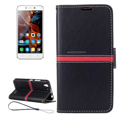 Buy For Lenovo K5 Crazy Horse Texture Horizontal Flip PU Leather Case with Holder & Card Slots & Wallet & Photo Frame & Lanyard, Black for $2.77 in SUNSKY store