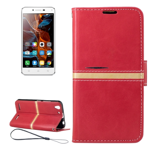 Buy For Lenovo K5 Crazy Horse Texture Horizontal Flip PU Leather Case with Holder & Card Slots & Wallet & Photo Frame & Lanyard, Red for $2.77 in SUNSKY store