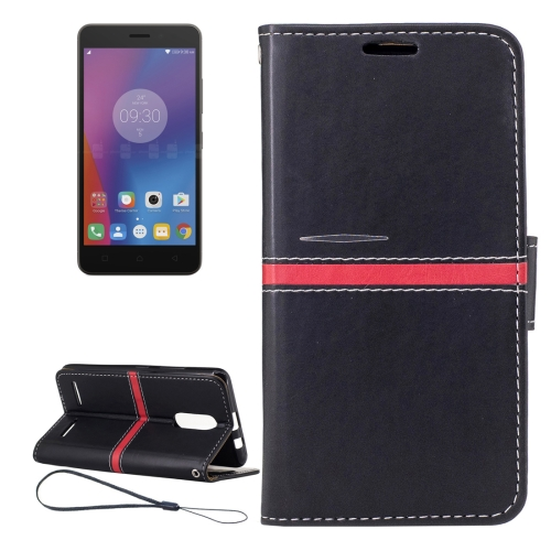 Buy For Lenovo K6 Crazy Horse Texture Horizontal Flip PU Leather Case with Holder & Card Slots & Wallet & Photo Frame & Lanyard, Black for $2.77 in SUNSKY store
