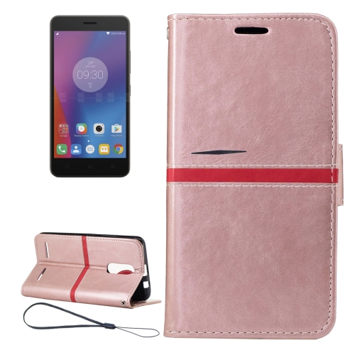 Buy For Lenovo K6 Crazy Horse Texture Horizontal Flip PU Leather Case with Holder & Card Slots & Wallet & Photo Frame & Lanyard (Rose Gold) for $2.77 in SUNSKY store
