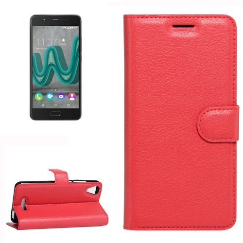 Buy For Wiko U Feel Go Litchi Texture Horizontal Flip Leather Case with Holder & Card Slots & Wallet, Red for $2.28 in SUNSKY store