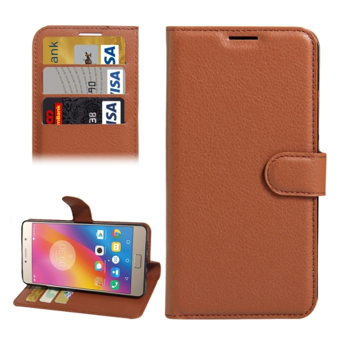 Buy For Lenovo P2 Litchi Texture Horizontal Flip Leather Case with Holder & Card Slots & Wallet, Brown for $2.28 in SUNSKY store