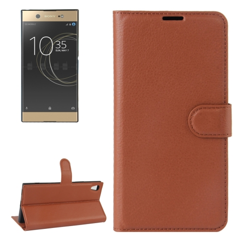 Buy For Sony Xperia XA1 Ultra Litchi Texture Horizontal Flip Leather Case with Holder & Card Slots & Wallet, Brown for $2.16 in SUNSKY store