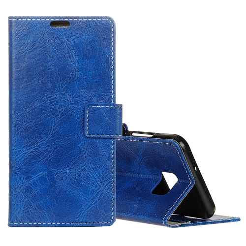 Buy For Asus ZenFone V V520KL Retro Crazy Horse Texture Horizontal Flip Leather Case with Holder & Card Slots & Wallet & Photo Frame, Blue for $3.20 in SUNSKY store