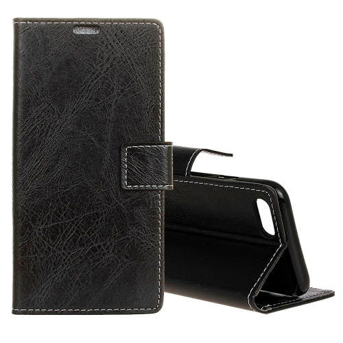 Buy For Asus ZenFone 4 ZE554KL Retro Crazy Horse Texture Horizontal Flip Leather Case with Holder & Card Slots & Wallet & Photo Frame, Black for $3.20 in SUNSKY store