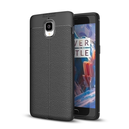 Buy OnePlus 3 / 3T Litchi Texture TPU Protective Case, Black for $2.29 in SUNSKY store