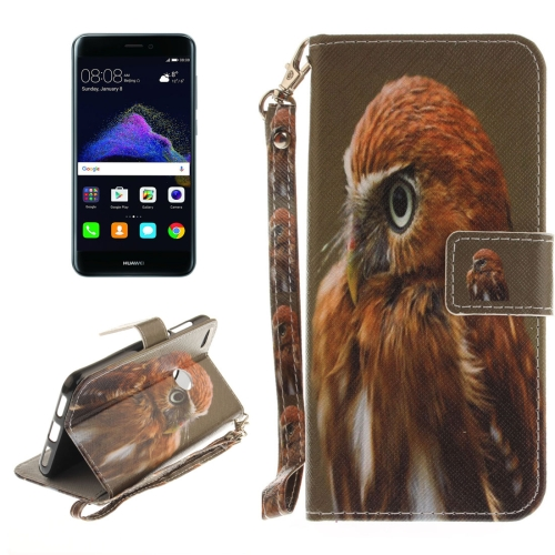 Buy Huawei P8 Lite, 2017 Eagle Pattern Horizontal Flip Leather Case with Holder & Card Slots & Wallet & Lanyard for $2.52 in SUNSKY store