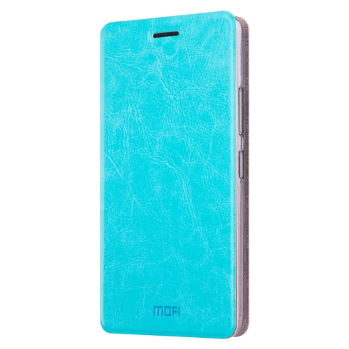 Buy MOFI for Lenovo K6 Note Crazy Horse Texture Horizontal Flip Leather Case with Holder, Blue for $3.46 in SUNSKY store
