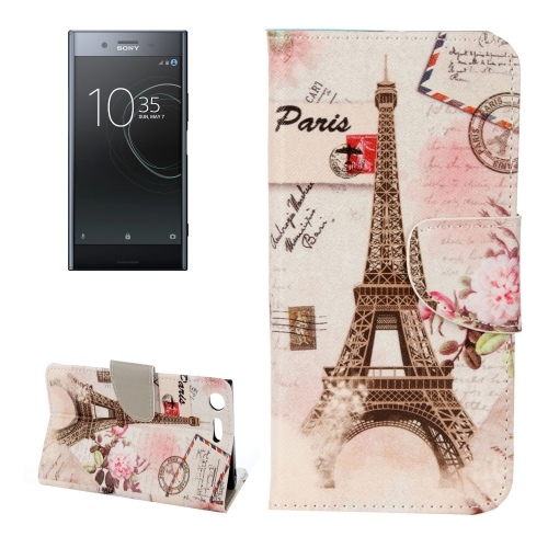Buy For Sony Xperia XZ Premium Eiffel Tower Pattern Horizontal Flip Leather Case with Holder & Card Slots & Wallet for $2.18 in SUNSKY store