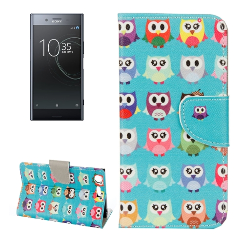 Buy For Sony Xperia XZ Premium Cartoon Owls Pattern Horizontal Flip Leather Case with Holder & Card Slots & Wallet for $2.18 in SUNSKY store