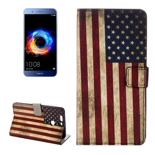 Buy Huawei Honor 8 Pro / Honor V9 US Flag Pattern Horizontal Flip Leather Case with Holder & Card Slots & Wallet for $2.31 in SUNSKY store