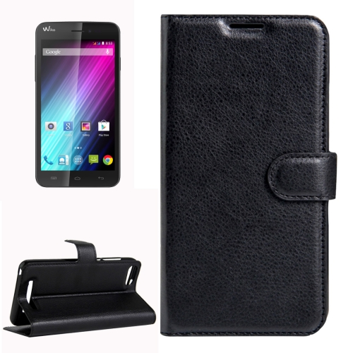 Buy For Wiko Lenny 3 Litchi Texture Horizontal Flip Leather Case with Magnetic Buckle & Holder & Card Slots & Wallet, Black for $2.20 in SUNSKY store