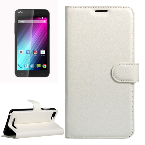 Buy For Wiko Lenny 3 Litchi Texture Horizontal Flip Leather Case with Magnetic Buckle & Holder & Card Slots & Wallet, White for $2.18 in SUNSKY store