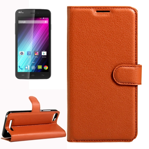 Buy For Wiko Lenny 3 Litchi Texture Horizontal Flip Leather Case with Magnetic Buckle & Holder & Card Slots & Wallet, Brown for $2.18 in SUNSKY store
