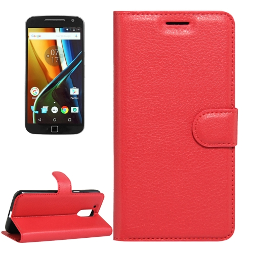 Buy For Motorola Moto G (4rd gen) & G (4rd gen) Plus Litchi Texture Horizontal Flip Leather Case with Magnetic Buckle & Holder & Card Slots & Wallet, Red for $2.29 in SUNSKY store